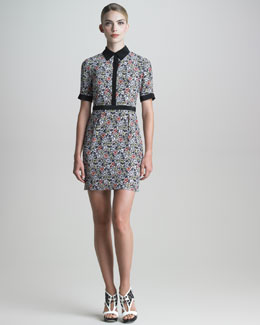 Jason Wu Floral-Print Silk Shirtdress