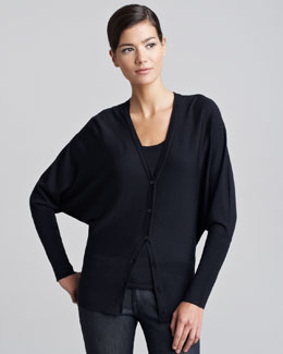 Ralph Lauren Black Label Long Dolman-Sleeve Cardigan