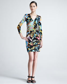 Ralph Lauren Black Label Kelby Printed Jersey Dress