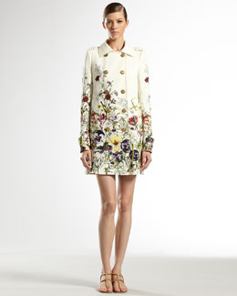 Gucci Flora Infinity Double-Breasted Trench Coat