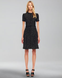 Michael Kors Metallic Tweed Dress