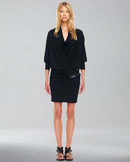 Michael Kors Belted Blouson Dress