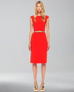Michael Kors  Boat-Neck Crepe Dress