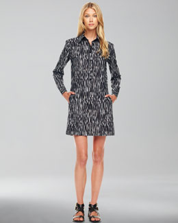 Michael Kors Printed Poplin Shirtdress