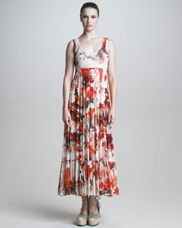 Jean Paul Gaultier Tiered Floral Maxi Dress