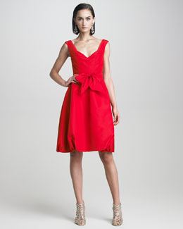 Oscar de la Renta Faille Bubble Dress