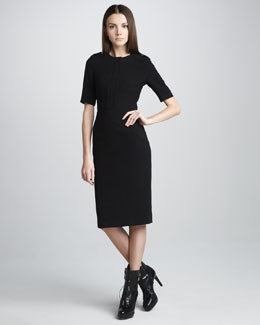 Burberry Prorsum Techno-Crepe Short-Sleeve Dress