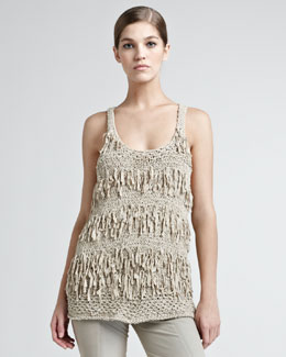 Donna Karan Ribbon Draped Tank