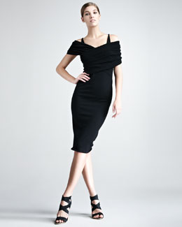 Donna Karan Stretch-Cashmere Dress