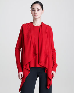 Donna Karan Cashmere Hooded Cardigan