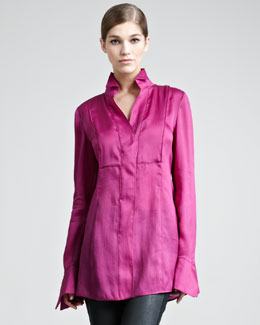 Donna Karan Tailored Organza Shirt