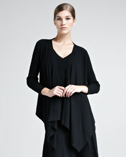 Donna Karan Draped Stretch-Knit Cozy, Black