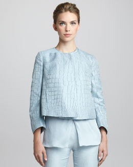 Giorgio Armani Textured Swing Jacket