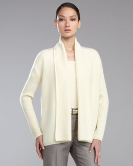 St. John Collection Micro-Popcorn Cashmere Shawl