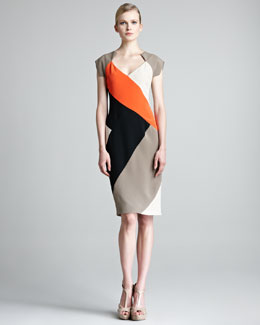 Lela Rose Colorblock Sheath Dress