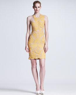 Stella McCartney Nude-Illusion Lace Sheath Dress