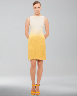 Akris Ombre Boucle Sheath Dress, Pollen Cordage