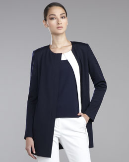 St. John Collection Milano Knit Zip-Front Jacket