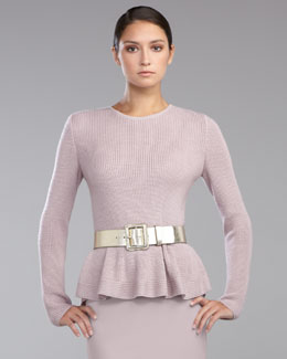 St. John Collection Peplum Knit Sweater