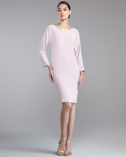 St. John Collection Luxe Crepe Cocoon Dress, Orchid