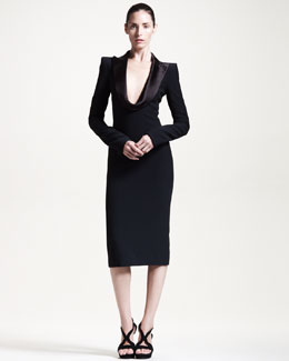 Alexander McQueen Draped-Lapel Dress