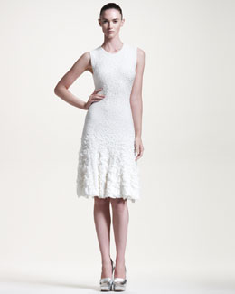 Alexander McQueen Sleeveless Pucker-Knit Dress