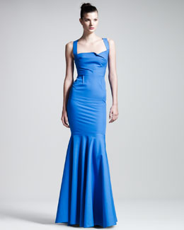 Roland Mouret Lunenburg Stretch-Cotton Gown