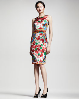 Dolce & Gabbana Floral-Print Sheath Dress