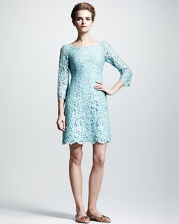 Dolce & Gabbana Empire-Waist Lace Dress