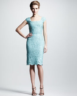 Dolce & Gabbana Cap-Sleeve Lace Dress
