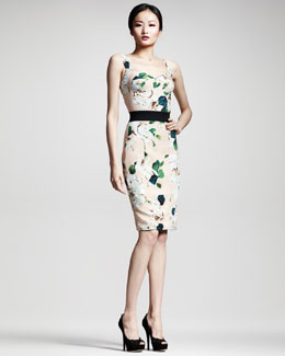 Dolce & Gabbana Floral-Print Panel Dress