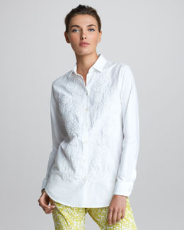 Etro Long-Sleeve Embroidered Shirt