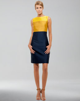 Akris punto Duchesse Colorblock Dress