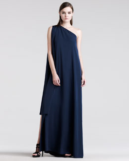 Maison Martin Margiela One-Shoulder Asymmetric Gown