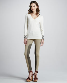 Burberry Brit Skinny Power-Stretch Riding Pants