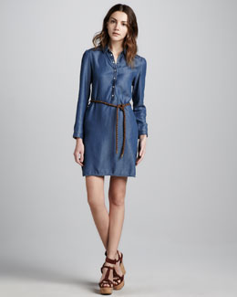 Burberry Brit Lightweight Chambray Dress