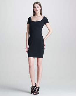 DSquared2 Heart-Back Fitted Jersey Dress