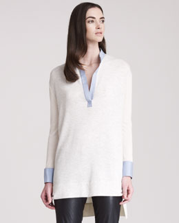 THE ROW Split-Neck Tunic