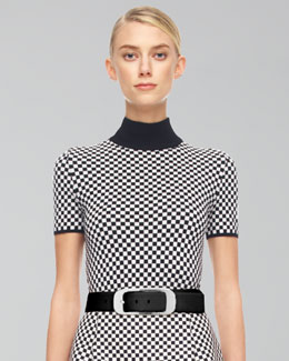 Michael Kors  Merino Optic Check Shell