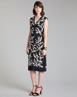Marni Embroidered Sheath Dress