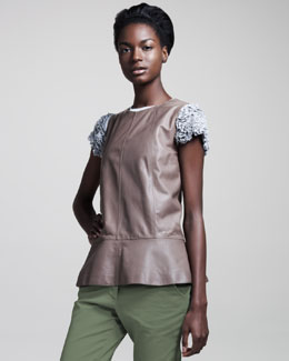 Brunello Cucinelli Sleeveless Leather Top