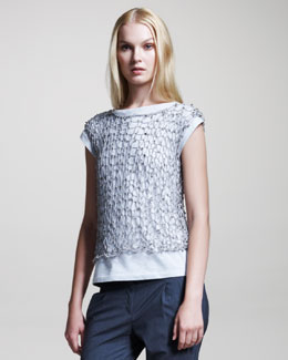 Brunello Cucinelli Fishnet Top