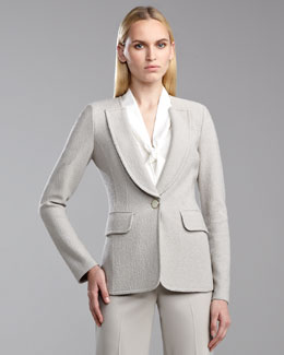 St. John Collection Boucle-Knit Blazer