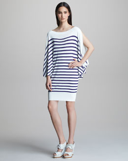 Jean Paul Gaultier Striped Bateau-Neck Dress