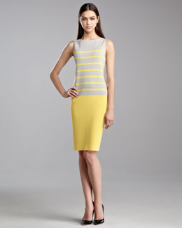 St. John Collection Milano Striped Dress