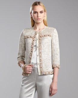 St. John Collection Shimmer-Knit Ottoman Jacket