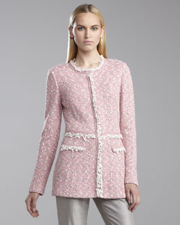St. John Collection Positano Tweed Topper Jacket