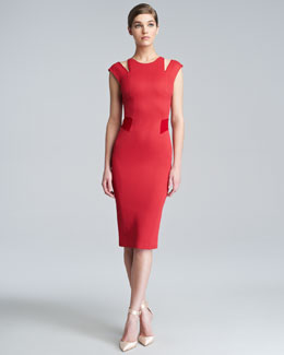 Zac Posen Bondage Jersey Cutout Dress