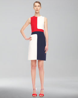 Michael Kors Colorblock Crepe Dress