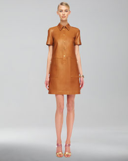 Michael Kors  Leather Shirtdress